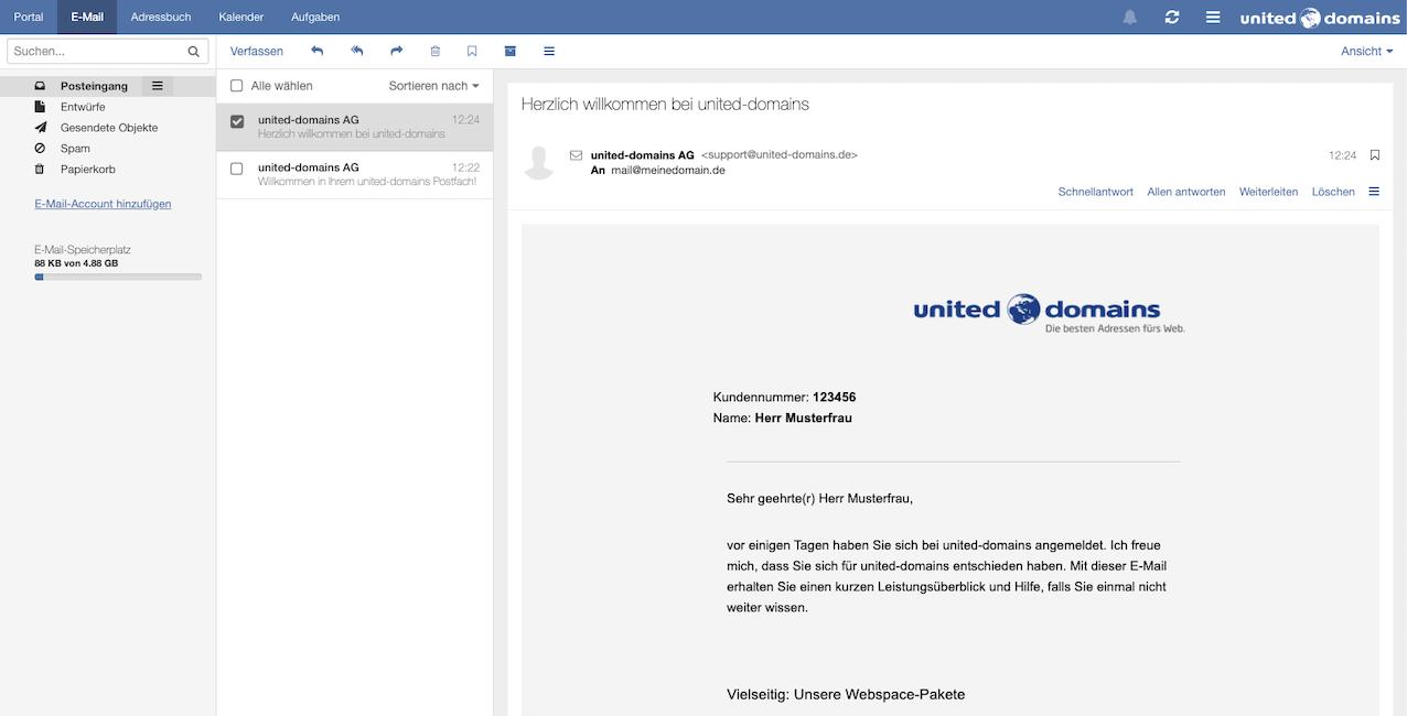 Webmailer | united-domains