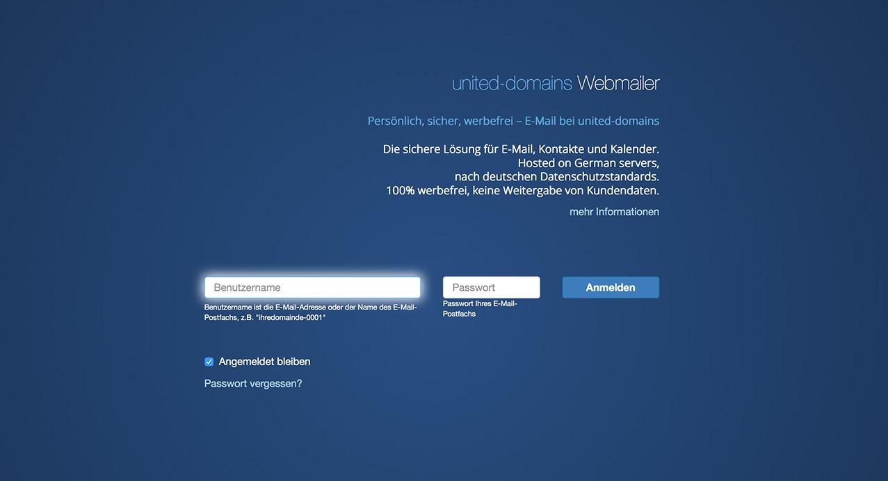 webmailer united domains. Black Bedroom Furniture Sets. Home Design Ideas