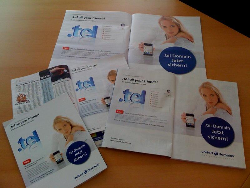 Aktuelle Anzeigen-Kampagene zu .tel