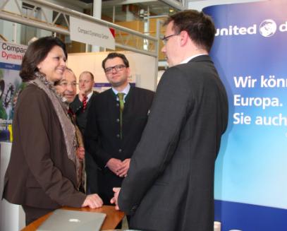 Bundesministerin Ilse Aigner, Landrat Karl Roth, Christoph Winkelkötter, Oliver Schwab