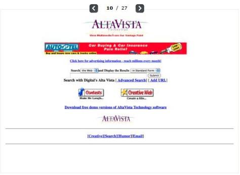 Blick zurück in eine andere Web-Welt: Atlavista gehört mittlerweile zu Yahoo.
