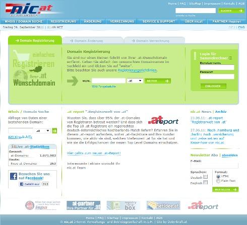 Bei der nic.at können Registrare .at-Domains bestellen
