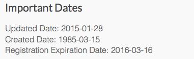 symbolics.com Registration Date