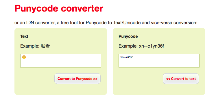 Convert Emoticon to Punycode