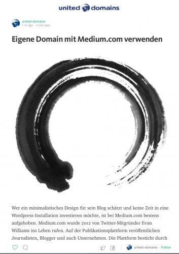 Medium.com united-domains