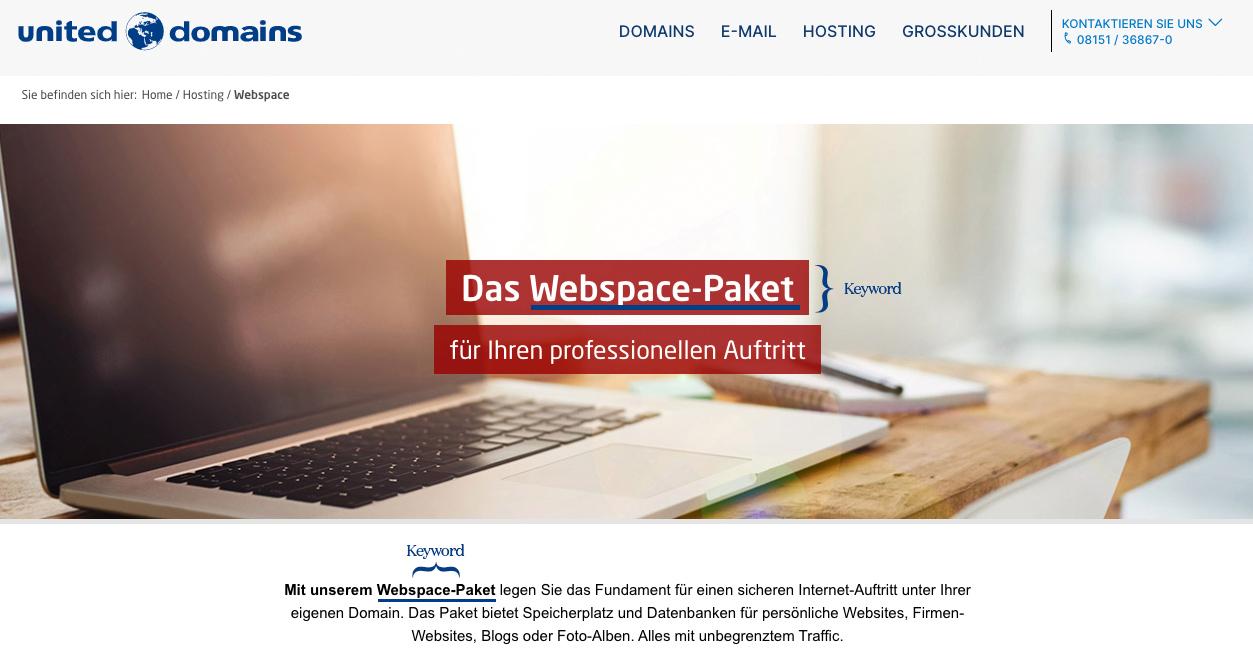 Keyword-Platzierung auf einer Website