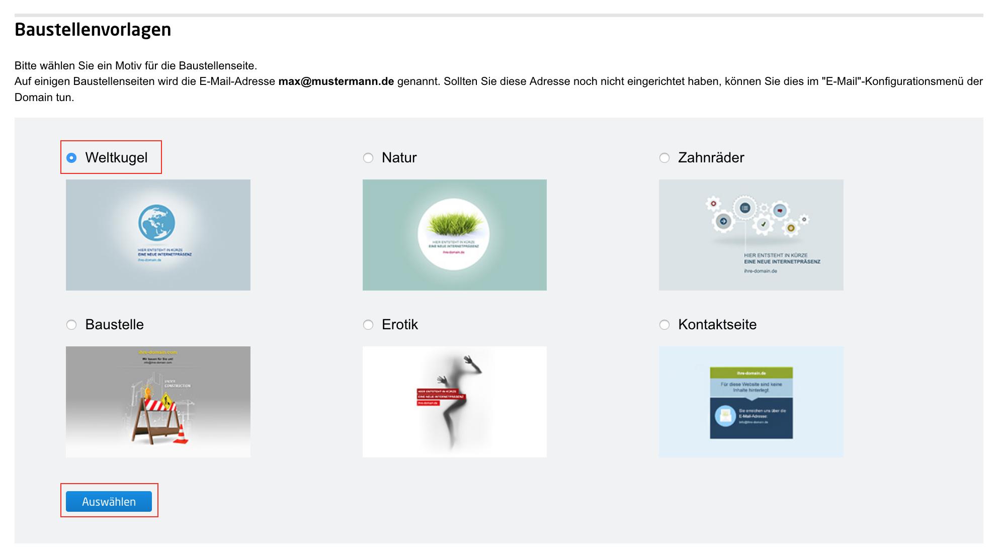 Wie nutze ich eine Webseiten-Vorlage? | united-domains Hilfe