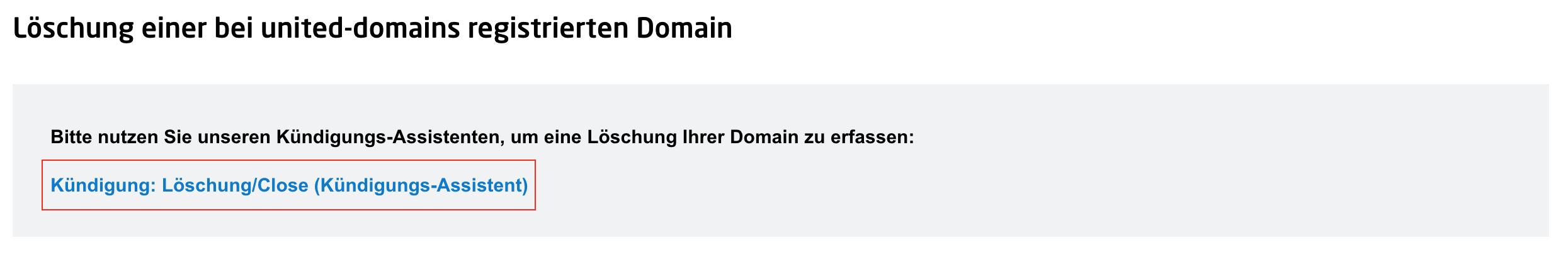 Wie Kann Ich Meine Domain Kündigen United Domains Hilfe