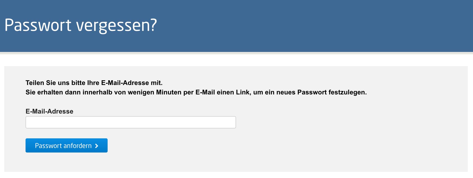 ich hab mein passwort vergessen