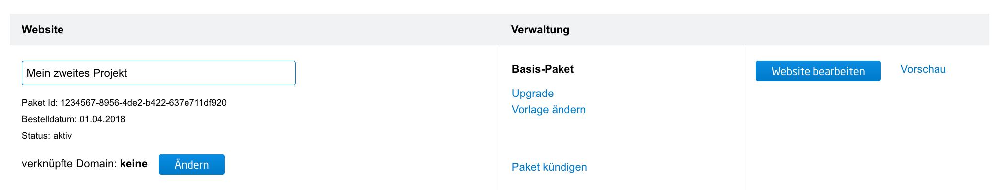 Wie kann ich den Namen meiner Website Projekte ändern? | united ...