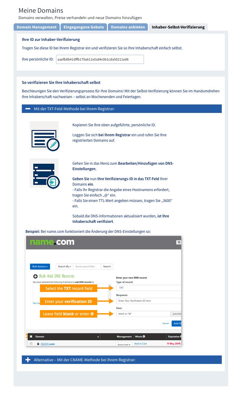 Domain Verkaufen Anleitung